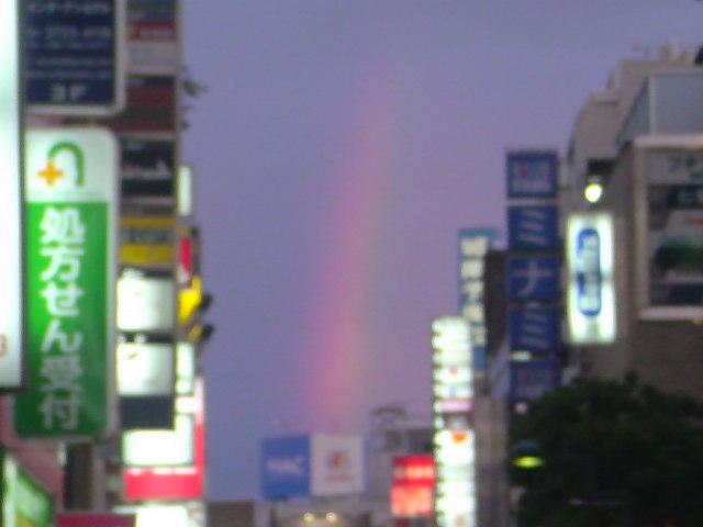 虹が見えた!